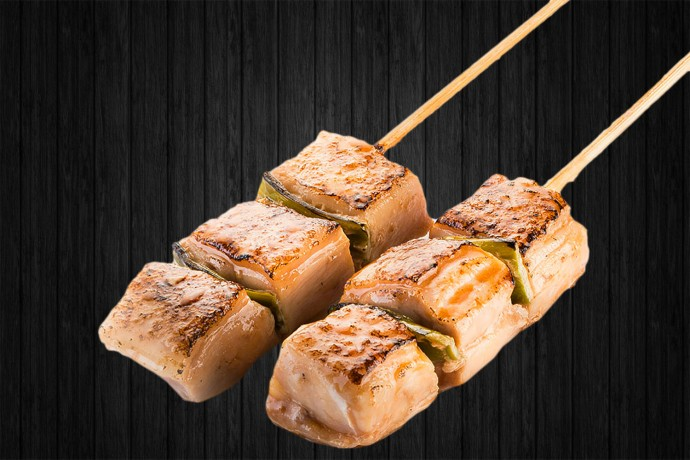 Yakitori Negima (cuisse de poulet) 2p